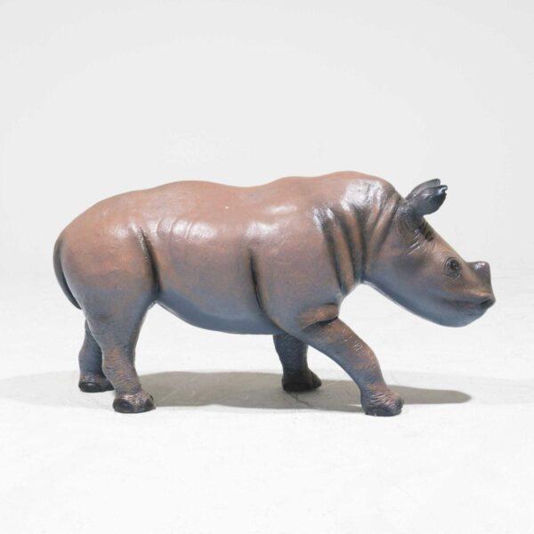 Life-Size Baby Rhinoceros Statue-19330