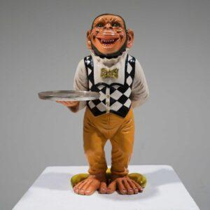 Butler Monkey Statue-0
