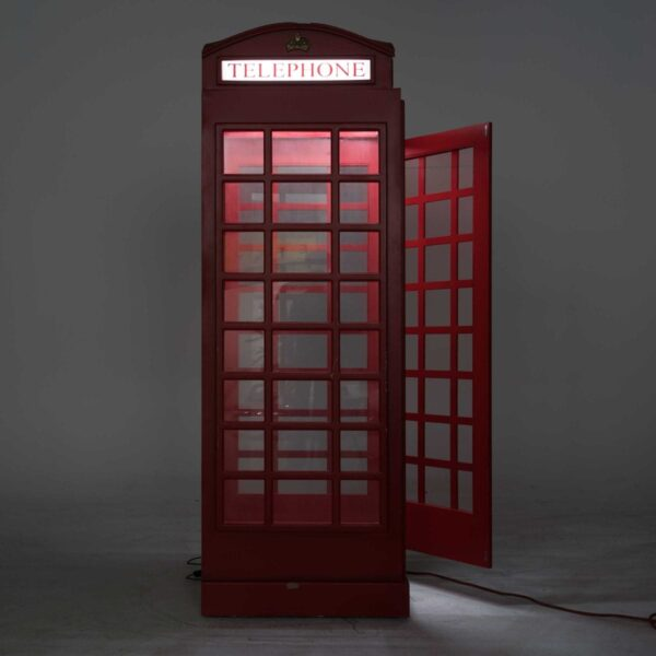 Red English Telephone Booth with Light -19246