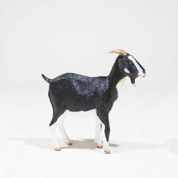 Life-Size Black and White Goat Statue-0