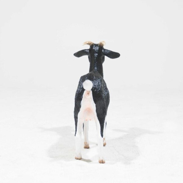 Life-Size Black and White Goat Statue-19360