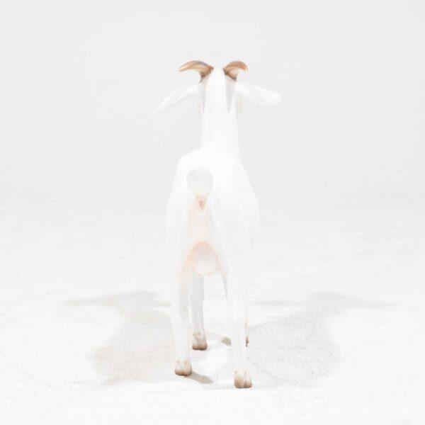 Life-Size Cream Goat Statue-19346