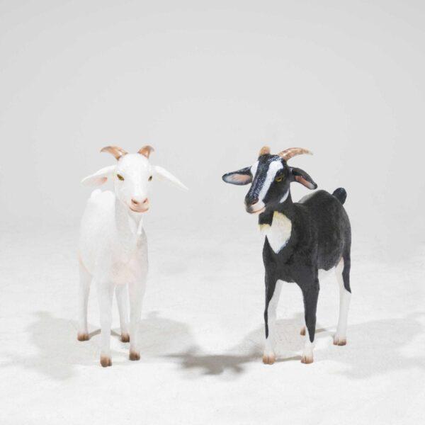 Life-Size Cream Goat Statue-19347