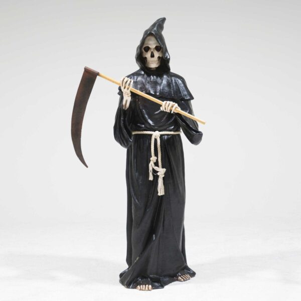 Life-Size Grim Reaper with Sickle Statue-0