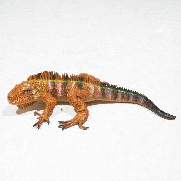 Life-Size Brown Iguana Statue -0