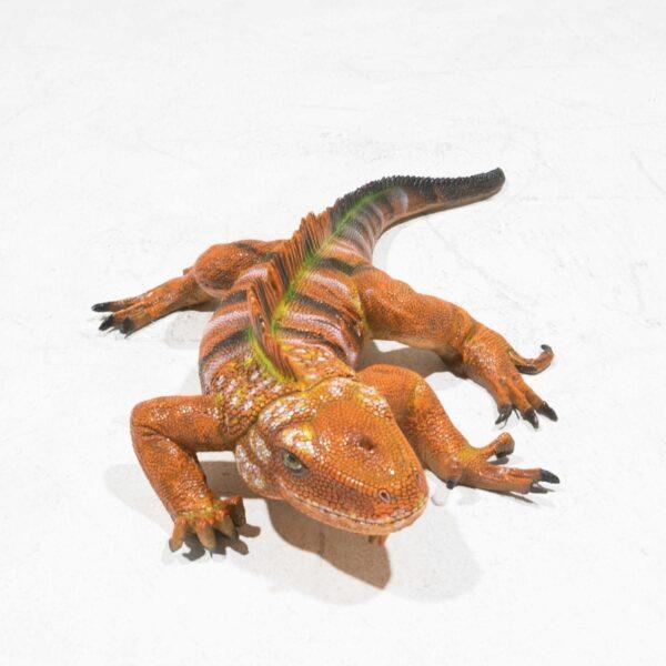 Life-Size Brown Iguana Statue -19319