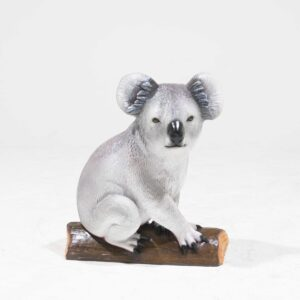 Life-Size Koala Bear Statue on branch-0
