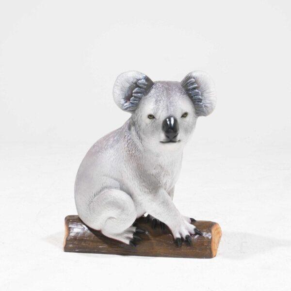 Life-Size Koala Bear Statue on branch-0