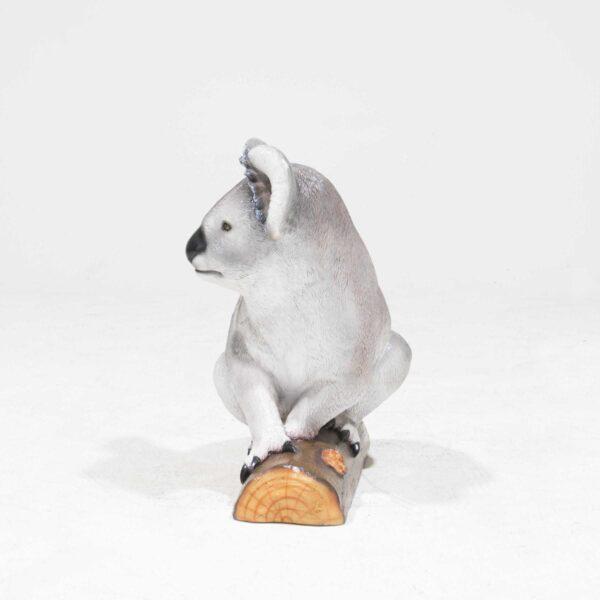 Life-Size Koala Bear Statue on branch-19337