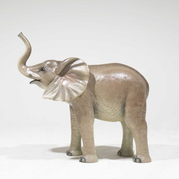 Life-Size Baby Elephant with trunk raised-0