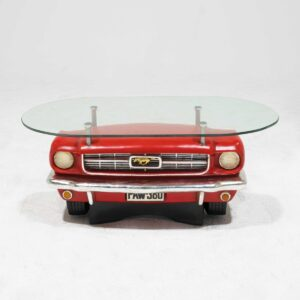 Red Mustang Car Coffee Table-0
