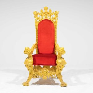Throne 15 - Opulent Gold Ornate Throne-0