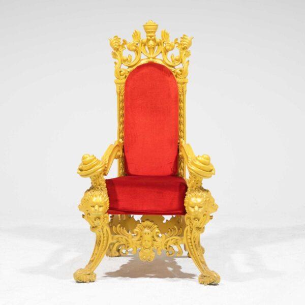 Throne 15 - Opulent Gold Ornate Throne-0