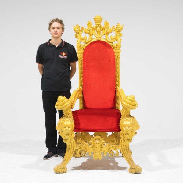 Throne 15 - Opulent Gold Ornate Throne-19303