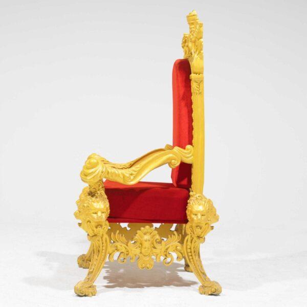 Throne 15 - Opulent Gold Ornate Throne-19304