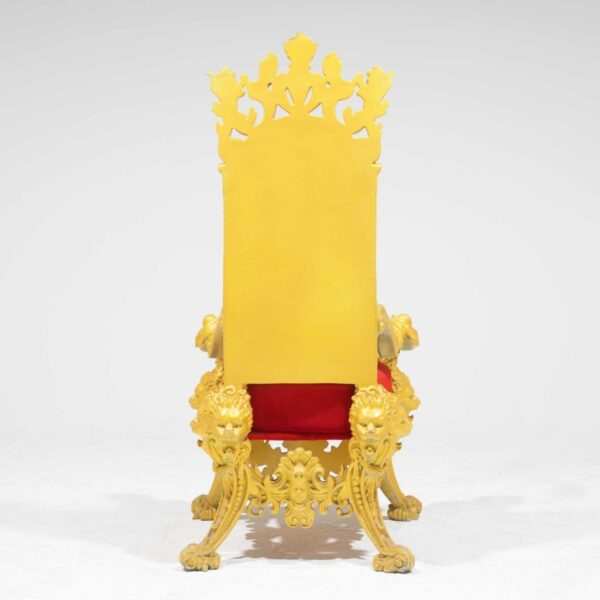 Throne 15 - Opulent Gold Ornate Throne-19305