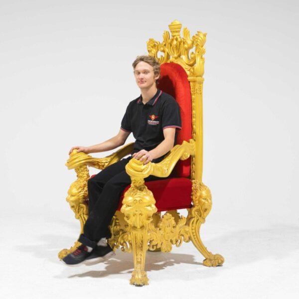 Throne 15 - Opulent Gold Ornate Throne-19306