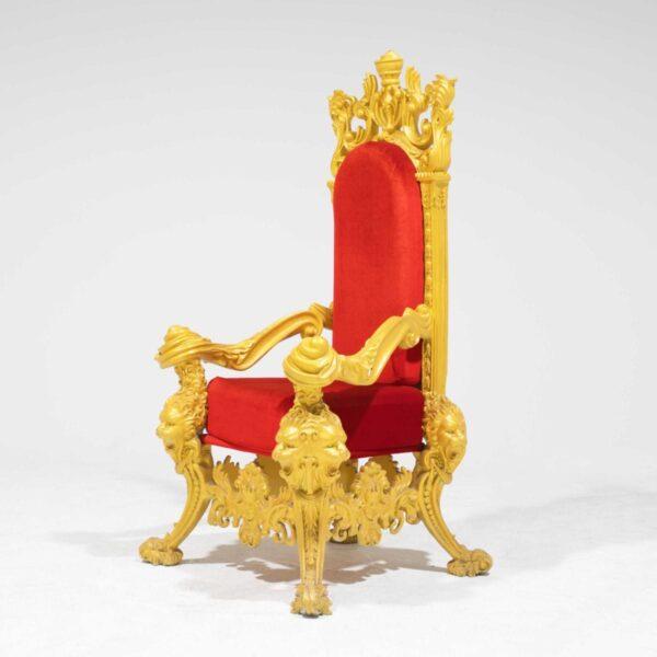 Throne 15 - Opulent Gold Ornate Throne-19302