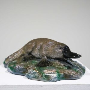 Life-Size Platypus Statue on rocks-0