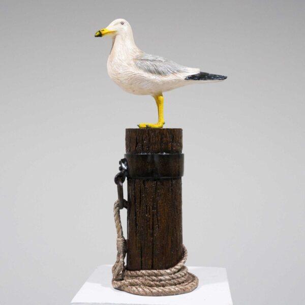 Seagull on Mooring Pole Statue-0