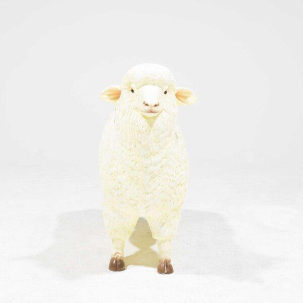 Life-Size Merino Sheep Statue-19355