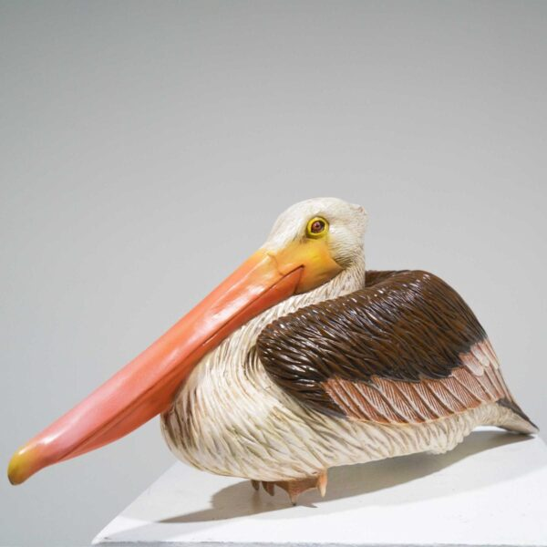 Life-Size Sitting Pelican Statue-19393
