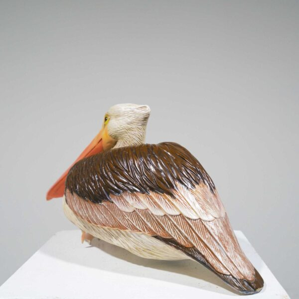 Life-Size Sitting Pelican Statue-19394