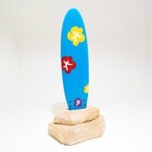 Surfboard in Rock-0