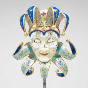 Venetian Masquerade Mask - Blue-0