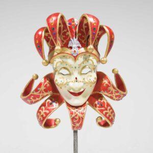 Venetian Masquerade Mask - Red-0