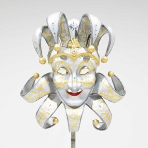 Venetian Masquerade Mask - Silver-0