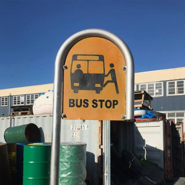 Curved Bus Stop Sign-0