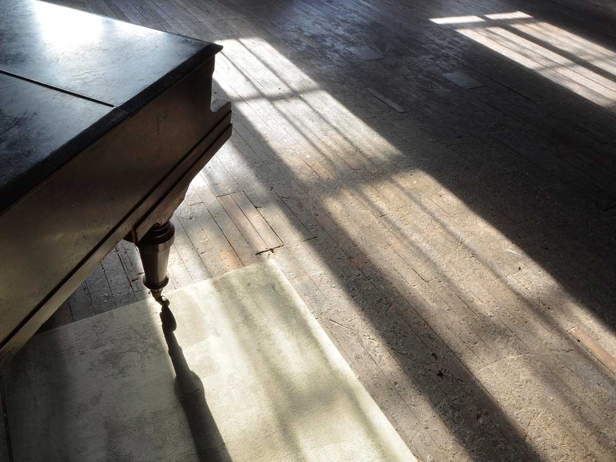 Studio 1 Warehouse Photographic Studio Hire in Marrickville Sydney - afternoon sunlight on floorboards