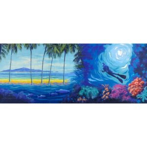 Tropical Paradise Underwater Montage Painted Backdrop BD-0026