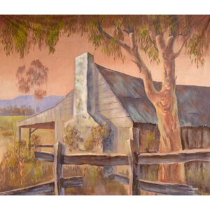 Australian Outback Old Homestead Ruin Painted Backdrop BD-0114