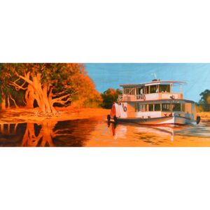 Murray River Queen Paddle Boat Painted Backdrop BD-0120
