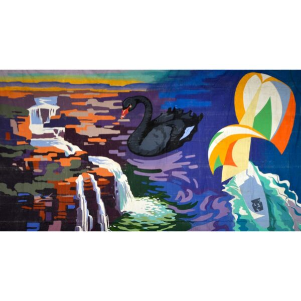 Black Swan Montage Painted Backdrop BD-0127