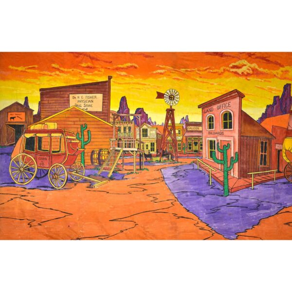 American West Dodge City Painted Backdrop BD-0244