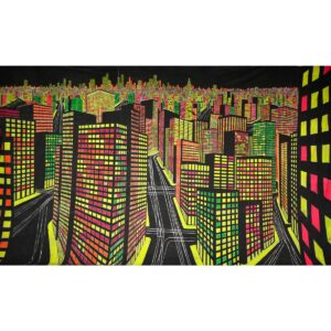 City Night Lights Painted Backdrop BD-0282