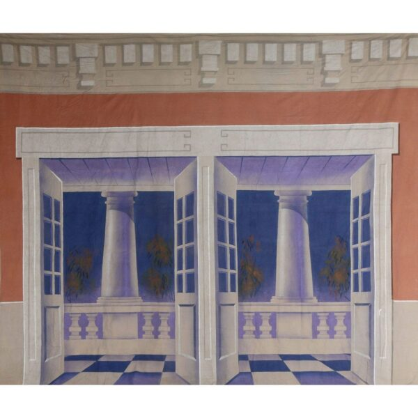 Stately Manor French Doors With Columns Painted Backdrop BD-0380