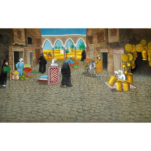 Arabian Marketplace Painted Backdrop BD-0684