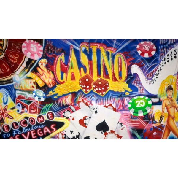 Casino Montage Painted Backdrop BD-0723