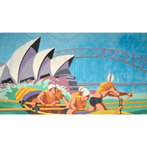 Sydney Harbour Rowers Painted Backdrop BD-0902
