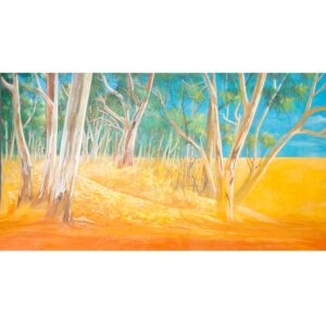 Australian Outback Desert Landscape Grassland to Forest Painted Backdrop BD-238