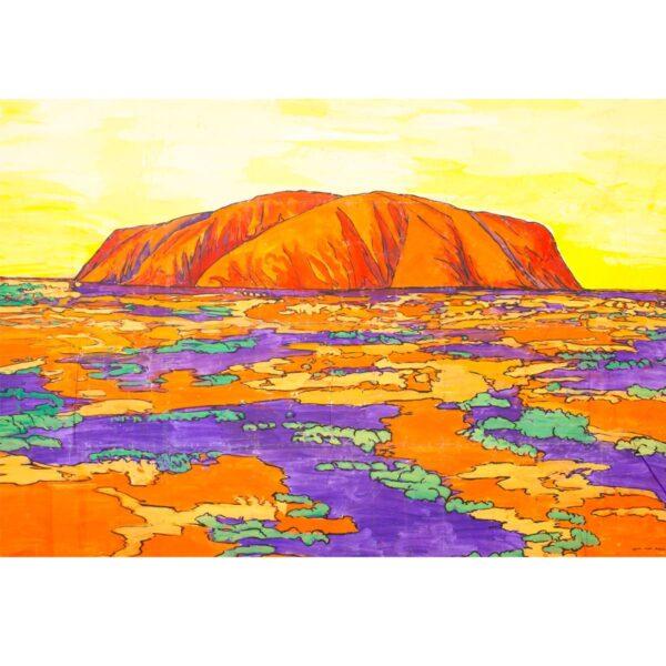Outback Australia Uluru - Ayres Rock Painted Backdrop BD-87