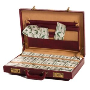 Briefcase with Fake Money-0