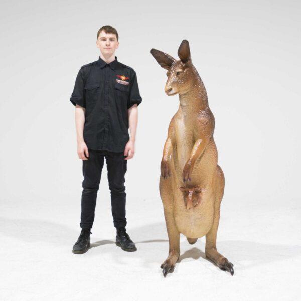 Life Size Kangaroo with Joey-19308