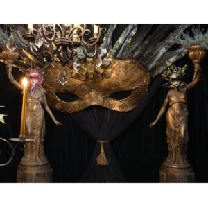 Large Masquerade Mask Type B - Sydney Prop Specialists - Prop Hire and Event Theming