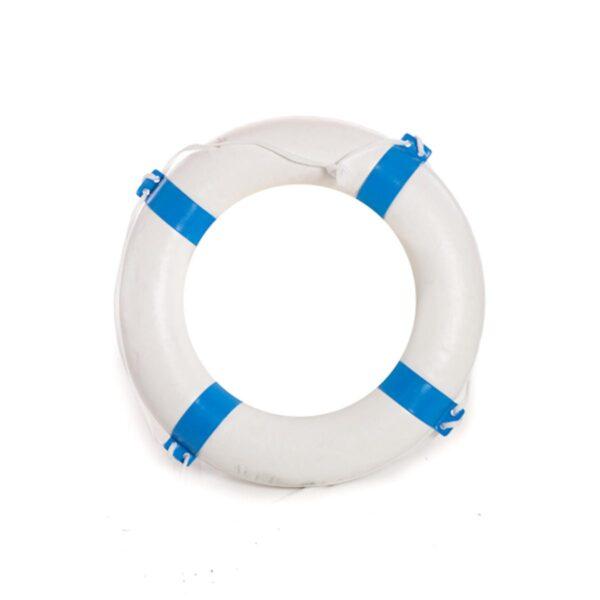 White and blue lifebuoy