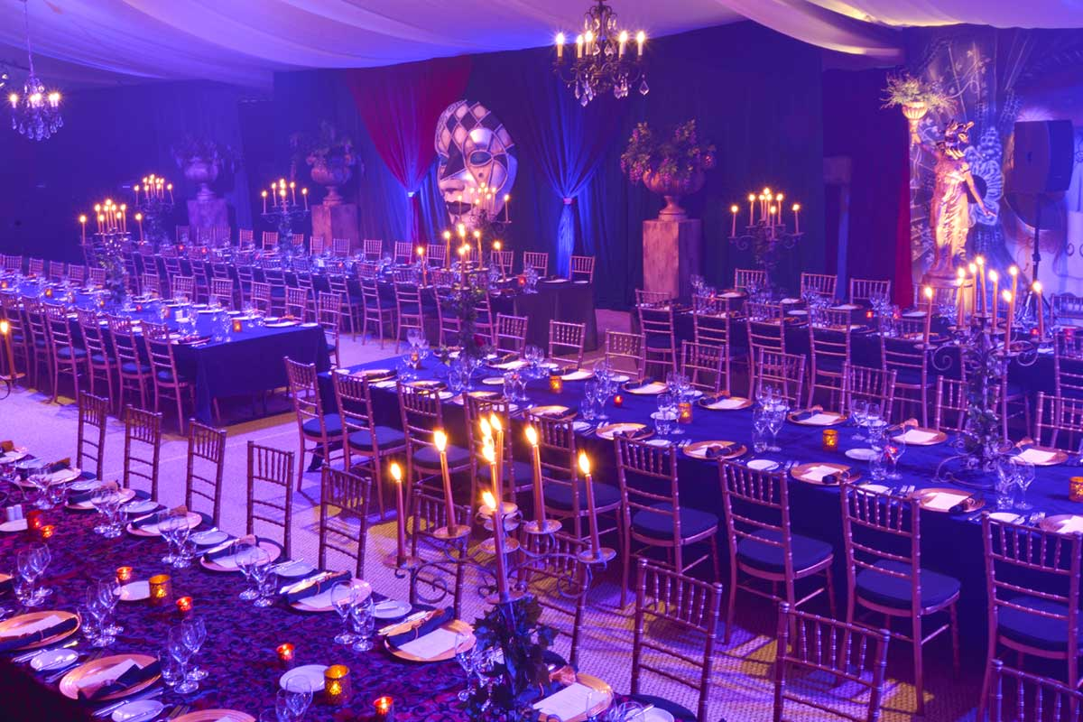 Sydney Prop Specialists Masquerade Theme Corporate Dinner in Marquee
